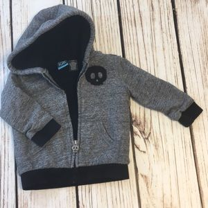 🦈Little boys gray & black thick lined jack…